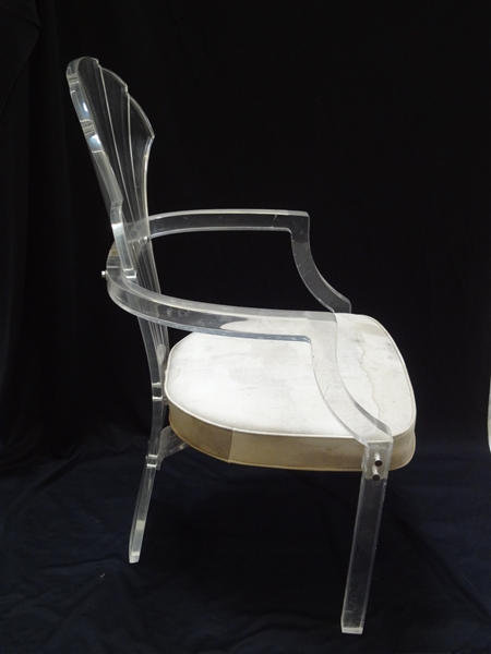 Lucite Shell Back Chair