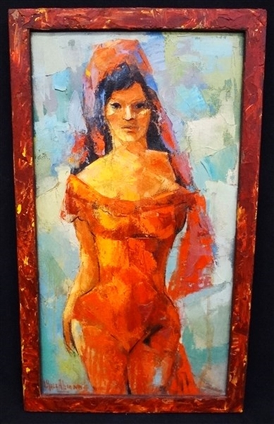 Ray Lopez-Aleman Original Oil on Canvas Rosita 1998