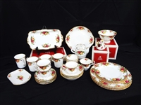 Royal Albert China Old Country Rose Service for Four With Extras