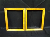 (2) Tiger Maple Wood Frames