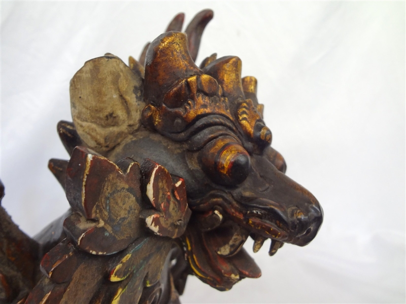 Hand Carved & Hand Painted Wood Carving Griffon