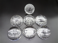 (7) Waterford Crystal Half Dome Paperweights