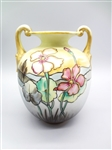 Nippon Double Handle Hand Painted Vase
