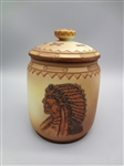 Nippon Lidded Hand Painted Tobacco Jar