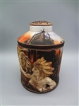 Nippon Hand Painted Lidded Tobacco Jar