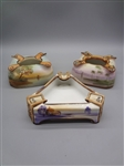 (3) Nippon Hand Painted Ashtrays