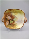 Nippon Hand Painted Shallow 2 Handle Dish