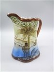 Made in Japan Hand Painted Pitcher/Creamer With Native American Landscape