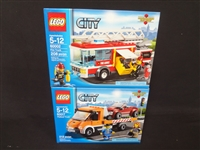 (2) LEGO Unopened Sets: 60017 Flatbed Truck, 60002 Fire Truck