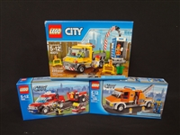 (3) LEGO Unopened Sets: 60073 Service Truck, 7638 Tow Truck, 7942: