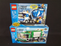 (2) LEGO Unopened Sets: 4432 Garbage Truck, 7990 Cement Mixer