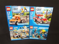 (4) LEGO Unopened Sets: 60091 Deep Sea Starter Kit, 60077 Space Starter Kit, 60054 Light Truck Repair, 60001 Fire Chief Car