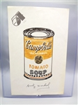 Andy Warhol Signed Campbells Tomato Soup Can Drawing On Studio 54 Letterhead