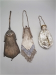 (3) Metal Dress Mesh Purses: Whiting and Davis, others