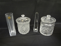 (4) Miscellaneous Crystal: Beaubourg, Oberursel, Galway, Royal Doulton