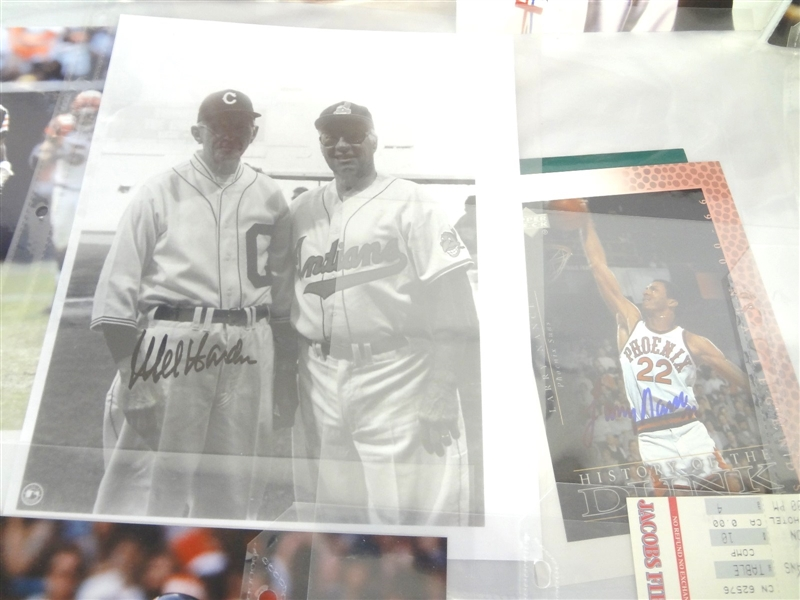 (23) Multi Sport Autographed Photos and Ephemera: Swann, Foreman, Andretti, Others