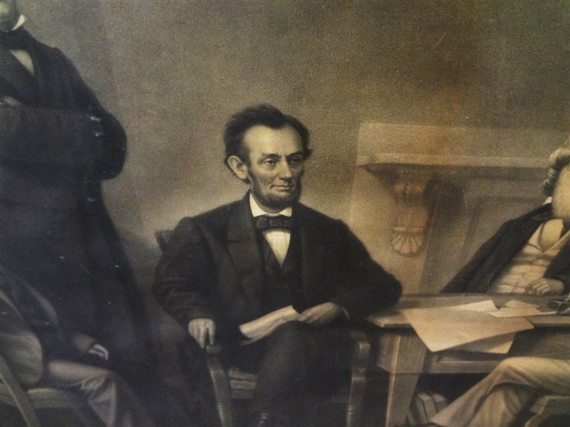 Alexander Hay Ritchie (1822-1895) Engraving The First Reading of the Emancipation Proclamation Before the Cabinet