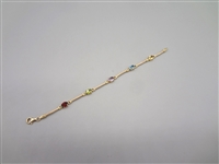 18k Gold and Gemstone Bracelet
