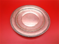 Gorham Sterling Silver Rope Edge Plate