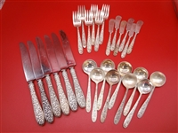 "National Silver Company Sterling Silver Flatware ""Narcissus"" 1936"