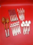 "Manchester Sterling Silver Flatware ""Southern Rose"" 1933"