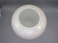 Large Iridescent White Art Glass Vase