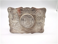 Don Ricardo Sterling Silver Belt Buckle With 1921 Morgan Silver Dollar
