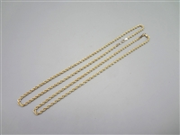 (2) Gold Plated Sterling Silver Rope Necklaces
