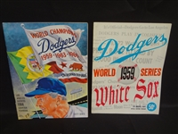 (2) Lops Angeles Dodgers Program and Yearbook