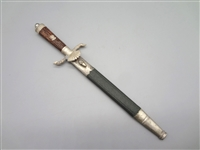Miniature National Hunting Association German Dagger With Scabbard