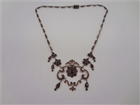 Bohemian Sterling Silver Garnet Necklace