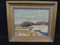 Walter Emerson Baum Oil Painting on Board