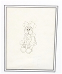 Minnie Mouse Original Production Drawing COA Great American Ink: