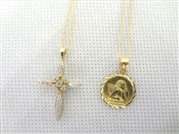 10k and 14k gold Necklaces and Pendants