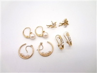 (4) 14k Gold Earring Sets