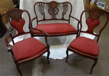 (3) Piece Sitting Room Set: Settee, Arm Chair and Side Chair.