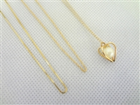 (3) 14k Gold Necklaces