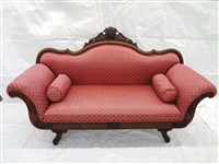 Victorian High Back Settee