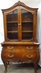 Small China Cabinet Two Drawers, Two Glass Doors