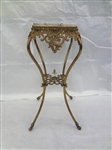 Victorian Brass and Marble Plant Stand