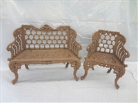 Cast Aluminum Garden Bench and Chair White House Garden