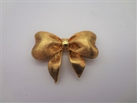18k Gold Frank J. Golden Bow Brooch