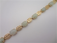 14k Gold and Jade Bracelet