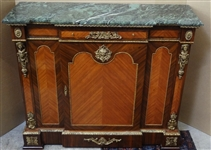 French Green Marble Top Broken Front Server