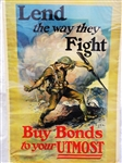 """Lend the Way They Fight"" Edmund Marion Ashe World War I Bond Poster"