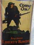 """Come On! Buy More Liberty Bonds"" World War I 1918 Whitehead Poster"